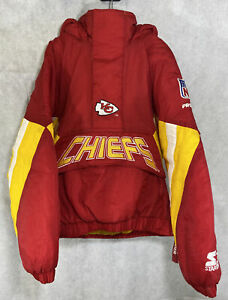 Kansas City Chiefs Pro Line Starter Jacket Pull Over Youth Small NFL Vintage