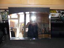 Vintage mirror Frameless bevel edge mirror 62x42cm all original