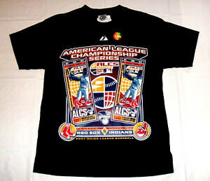 Boston Red Sox vs Cleveland Indians 2007 ALCS Youth Large T-Shirt NEW w/ Tags