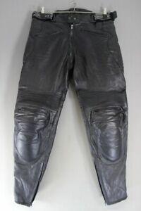"""JOE ROCKET BLACK LEATHER BIKER TROUSERS WITH PROTECTORS WAIST 36""""/INSIDE LEG 32"""""""