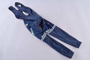 Santini Trek Factory Racing Thermal Bibtights Women's Small C3 Chamois Blue