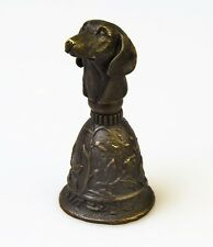 Bronze Glocke Tischglocke Klingel Hund