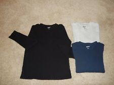Lot of 3 Arizona Jean Co Mens Waffle Knit Thermal Long Sleeve Shirt - Large
