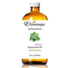 EAromaspa Essential Oil, Peppermint, 100% Pure & Natural, Hair, Mice Spray 16 oz