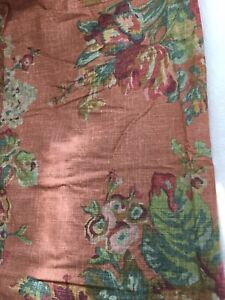 Vintage Rare Ralph Lauren MAURA Red Floral Fitted Sheet Twin