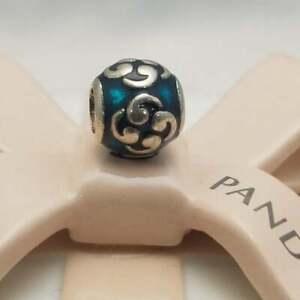 *Pandora Sterling Silver Turquoise Zen Charm #790491EN08