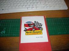 ADESIVO VINTAGE STICKER michael schumacher collection f1 world champion 94 95 .