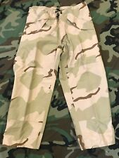 GI DESERT CAMO TROUSERS GORE-TEX ECW RAIN PANTS NSN 8415-01-475-3687 MEDIUM SH