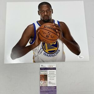 Kevin Durant Signed Warriors/Nets 11x14 Photo with  JSA COAU58728