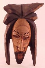 Rasta Jesus Unique One Of A Kind Hand Carved Wooden Figurine Wall Decor