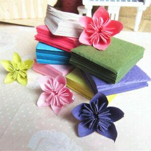 100pcs/pack Colorful Square Origami Paper DIY Folding Wish Paper Rose Craft