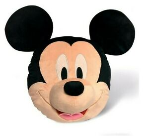 Licensed 3D Mickey Mouse Soft Pillow Cushion Room Decorative Relax Xmas Kid Gift