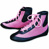 Ladies & Girl Leather Boxing Boots Boxing Shoes Light Weight Rubber Sole