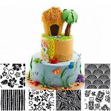 6pcs Hawaiian Design Texture Mat Cake Lace Sugar Fondant Mold Craft Decoration