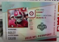 2018 PRESTIGE NFL PASSPORT INSERT ROOKIE CARD OF CALVIN RIDLEY NO. PP-CR
