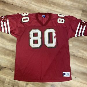JERRY RICE SAN FRANCISCO 49ers VINTAGE 90s CHAMPION NFL FOOTBALL JERSEY XXL