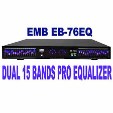 EMB Professional EB-76EQ Dual 15 Band (30 Bands Total) Graphic Stereo Equalizer
