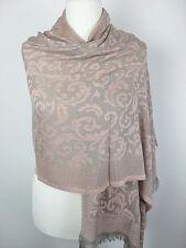 Pashmina Schal Tuch Stola Hijab 100% Viskose gewebt Hellrosa Rosa 183x70cm