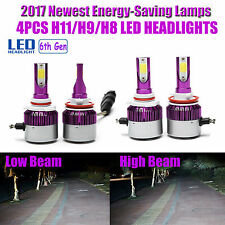 4Pcs Combo Kit H11 + H11 Total 240W LED Car Headlight Bulbs Hi-Lo Beam 6000K Kit