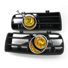 Front Bumper Yellow Fog Light Grille for VW Golf GTi / TDI MK4 97-03 1J0853666B