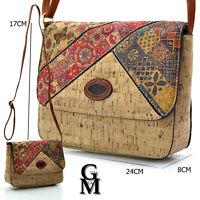 Gyoiamea borsa borsetta donna tracolla rigida sughero fantasia piccola colorata