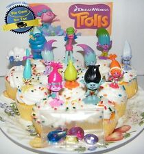 Trolls Movie Figures Cake Topper Toy Mini Figure Toys Poppy Branch Kids Pack Set