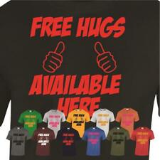 Free Hugs Available Here Mens T-shirt Huggers Friendly Music Festival Tee Gift