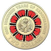 Australia 2019 Repatriation $2 Coloured UNC Coin Loose in 2x2 Holder Ex Mint Bag
