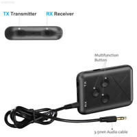 8DCF 3.5MM 2in1 Bluetooth Transmitter Receiver Digital for TV Low Latency Audio