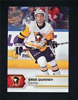 2017-18 17-18 UD Upper Deck AHL Hockey Base #9 Gage Quinney