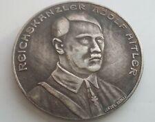 German Silvered Coin Reichs Kanzler 1937 Pre-War Germany Exonumia Medal Token