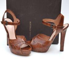 BOTTEGA VENETA New sz 39 - 9 Womens Designer Brown Sandals Heels Shoes $1200