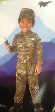 Army Soldier Muscle Costume Camo Camouflage Toddler Boys or Girls Size 3T-4T New
