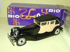 RIO 1:43 MADE IN ITALY AUTO DIE CAST BUGATTI ROYALE 1927 - 1933 NERO ART 66