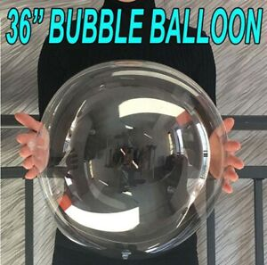 "36"" INCH ROUND BUBBLE BALLOON Transparent Balloon Birthday Wedding Party deco UK"