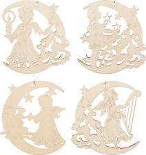 4x Pendenti Albero impiccagioni letto Di Natale legno accessorio per 8 CM LUNA