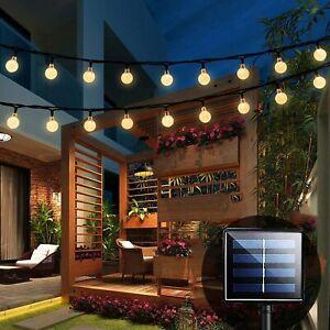 100 LED Solar Garden String Fairy Lights Wedding Party Festoon Ball Bulbs Lamp