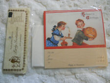 Nos 4 Packages Vintage Halloween PostCard Party Invitations~Old Print Factory