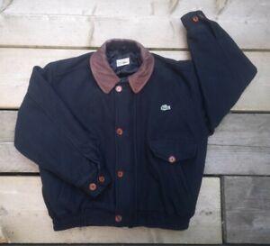 Vintage 90s Chemise Lacoste Wool Bomber Jacket. Medium. Varsity.