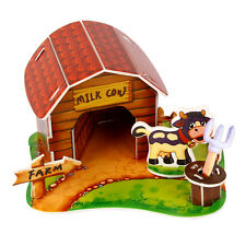 3D Paper Puzzle DIY CarCion Pet Animal House Jigsaw Kids Educational Toy YJ