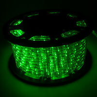 150' 110V Green LED Rope Light 2Wire Outdoor Home Decoration Party Xmas Lighting