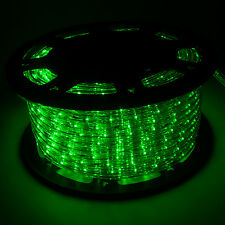 150' Green LED Rope Light 2Wire Outdoor Home Decoration Party Xmas Lighting 110V