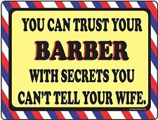 Barber Shop Sign - Trust - Barber Supplies, Barber Chair, Salon Supplies