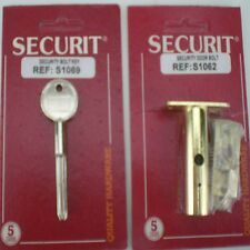 HIGH SECURITY DEAD LOCK BOLT GOLD PLATE FITTINGS KEY SAFETY ANTI THEFT DEVICE