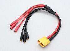 New XT60 to 3.5mm 3 wire bullet Multistar ESC Power Breakout Cable tricopter US