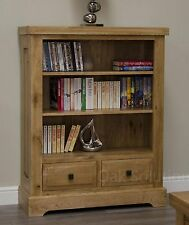 Regent solid oak furniture small living room office bookcase