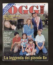 OGGI 7/1999 RE HUSSEIN DI GIORDANIA ANNA FALCHI LAETITIA CASTA OBELIX DEPARDIEU