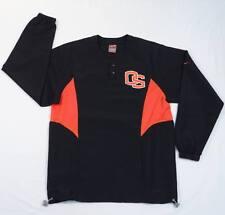 Nike Dri Fit Oregon State Black & Orange Long Sleeve Wind Shirt Mens XS NWT