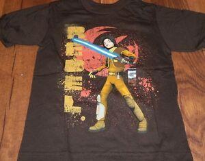 Sz 4 Star Wars Rebels Boys T- Shirt brown Brand New w/Tags NWT tee