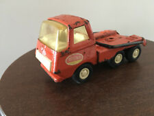 Vintage Tonka Mini, Red Skip Bin Truck, Construction Site